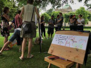 Les Facilitateurs d'Alsace - Forum ouvert du 9/6/2018 sur la Place de la République à Strasbourg : Il est où le bonheur ?